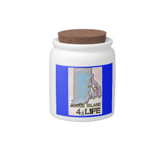 """""""Rhode Island 4 Life"""" State Map Pride Design Candy Dishes"""