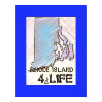 """Rhode Island 4 Life"" State Map Pride Design Letterhead"