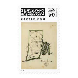 Rhode Island 6 Postage