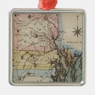 Rhode Island 9 Metal Ornament