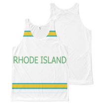 Rhode Island All-Over Printed Unisex Tank