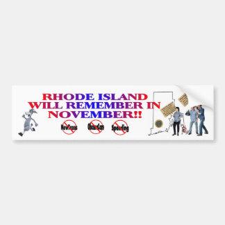 Rhode Island - Anti ObamaCare, New Taxes, Spending Car Bumper Sticker