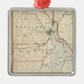 Rhode Island atlas 2 Metal Ornament