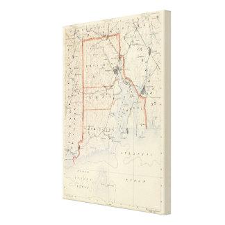 Rhode Island atlas Canvas Print