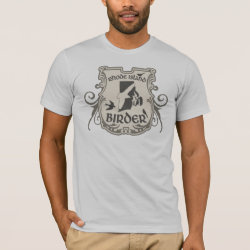 Men's Basic American Apparel T-Shirt with Rhode Island Birder design