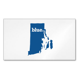 RHODE ISLAND BLUE STATE BUSINESS CARD MAGNET