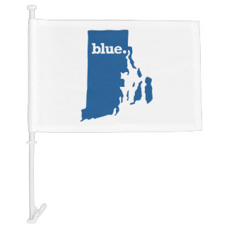 RHODE ISLAND BLUE STATE CAR FLAG