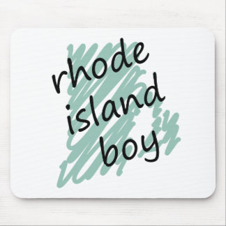 Rhode Island Boy on Child's Rhode Island Map Mouse Pad