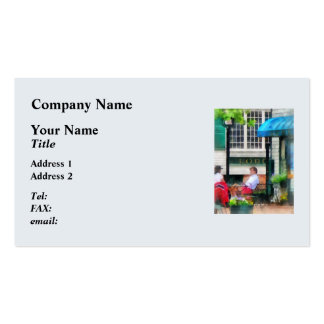 Rhode Island - Cafe Newport RI Double-Sided Standard Business Cards (Pack Of 100)