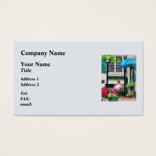 Rhode Island - Cafe Newport RI Business Card