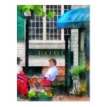 Rhode Island - café Newport RI Postales