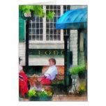 Rhode Island - café Newport RI Tarjeton