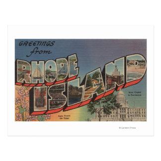 Rhode Island (Capital del Estado/flor) Tarjetas Postales
