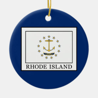 Rhode Island Ceramic Ornament