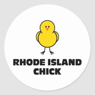 Rhode Island Chick Classic Round Sticker