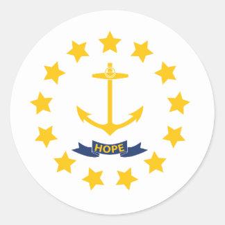 Rhode Island Classic Round Sticker