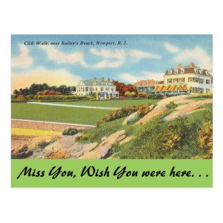 Rhode Island, Cliff Walk, Newport Post Card