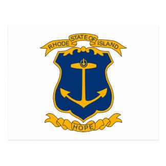 Rhode Island Coat of Arms Postcard