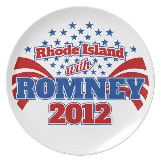 Rhode Island con Romney 2012 Plato