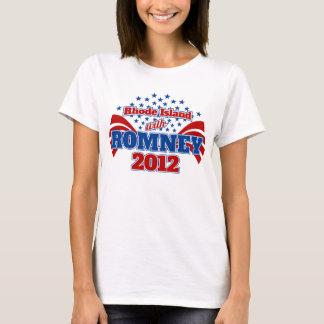 Rhode Island con Romney 2012 Playera