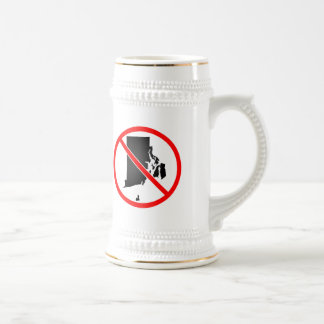 Rhode Island Cross Out Symbol Beer Stein