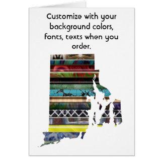 Rhode Island Customize colorful card how you like