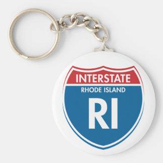 Rhode Island de un estado a otro RI Llavero Redondo Tipo Pin