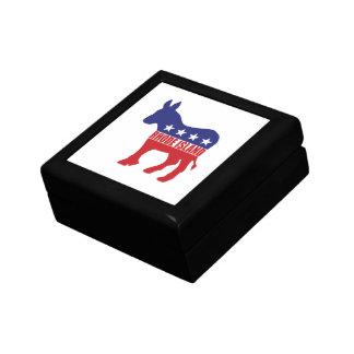 Rhode Island Democrat Donkey Keepsake Box