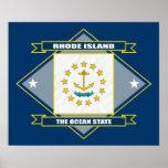 Rhode Island Diamond Print