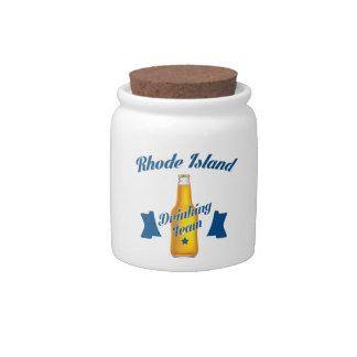 Rhode Island Drinking team Candy Jars
