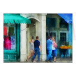 Rhode Island - Eating Out With Friends Newport RI Greeting Card
