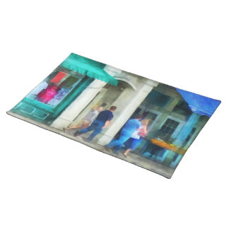 Rhode Island - Eating Out With Friends Newport RI Cloth Placemat
