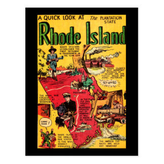 Rhode Island el estado de la plantación Tarjeta Postal