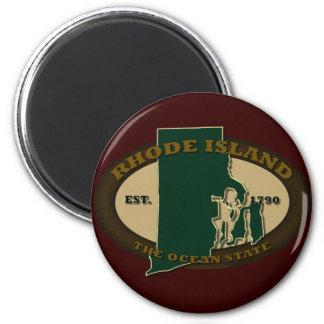 Rhode Island Est 1790 2 Inch Round Magnet