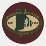 Rhode Island Est. 1790 Etiqueta Redonda