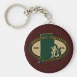 Rhode Island Est 1790 Key Chain