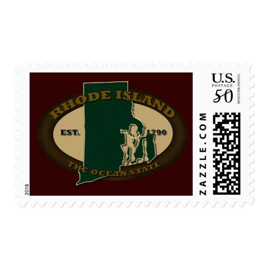 Rhode Island Est 1790 Postage