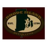 Rhode Island Est. 1790 Tarjetas Postales