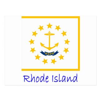 Rhode Island Flag And Name Postcard