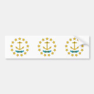 Rhode Island Flag Bumper Sticker