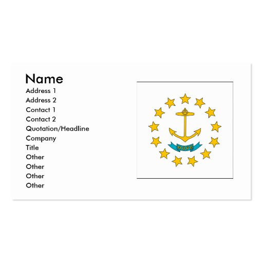 Rhode Island Flag Double-Sided Standard Business Cards (Pack Of 100)