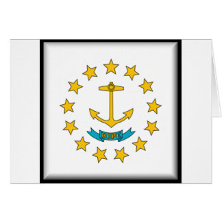 Rhode Island Flag Card