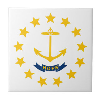 Rhode Island Flag Ceramic Tile