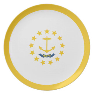 """Rhode Island Flag ~ Dining Plate 10"""" Non-Toxic"""