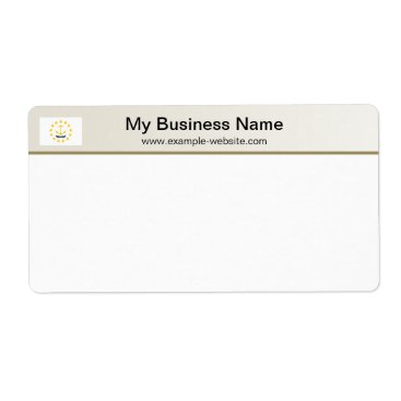 Professional Business Rhode Island Flag Header Shipping Label