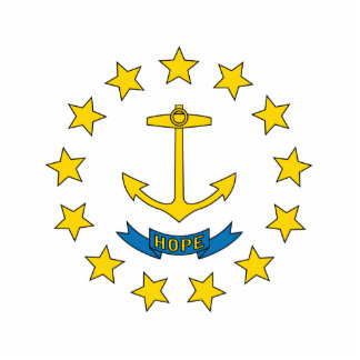 Rhode Island Flag Keychain Cut Out