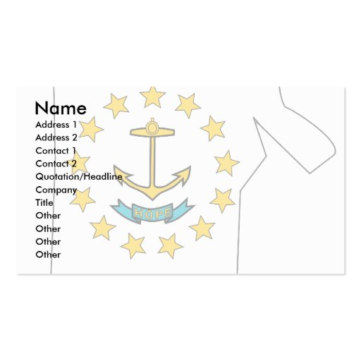 Rhode Island Flag Map Double-Sided Standard Business Cards (Pack Of 100)