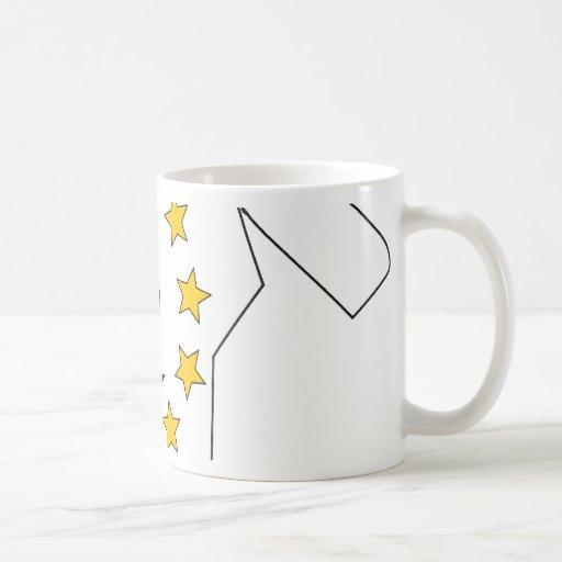 Rhode Island Flag Map Classic White Coffee Mug