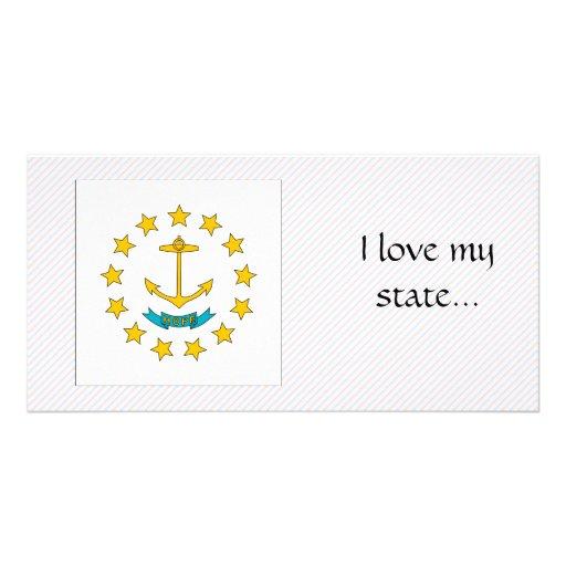 Rhode Island Flag Photo Card