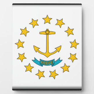 Rhode Island Flag Plaque